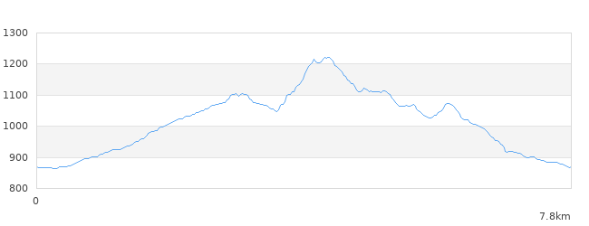 鉢伏山標高図