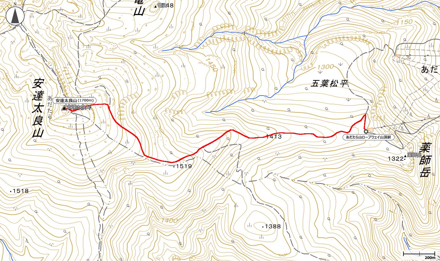 安達太良山地図