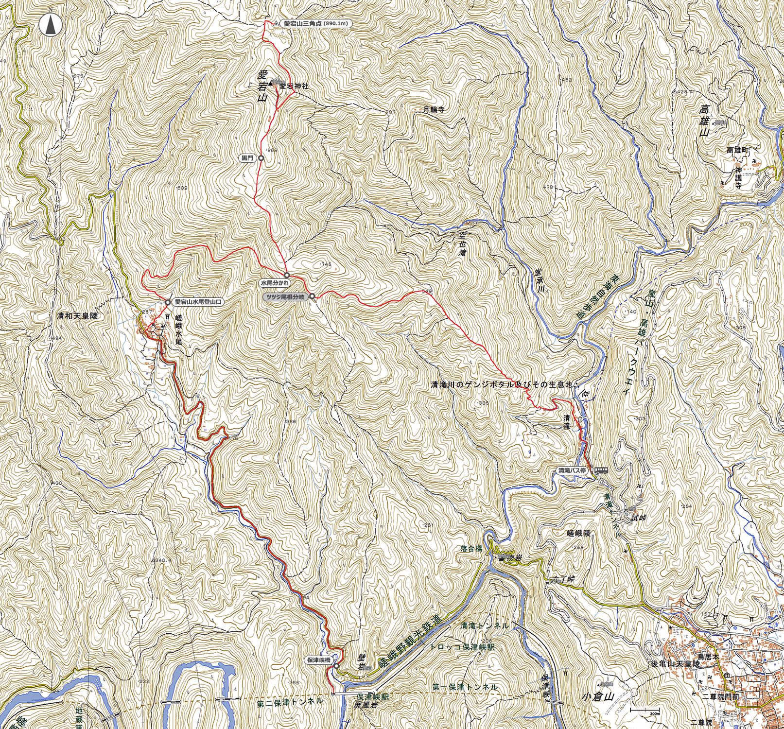 愛宕山地図
