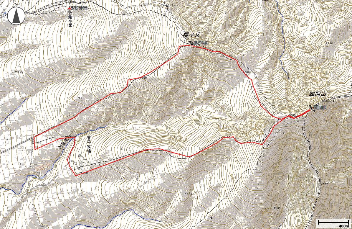 四阿山・根子岳地図