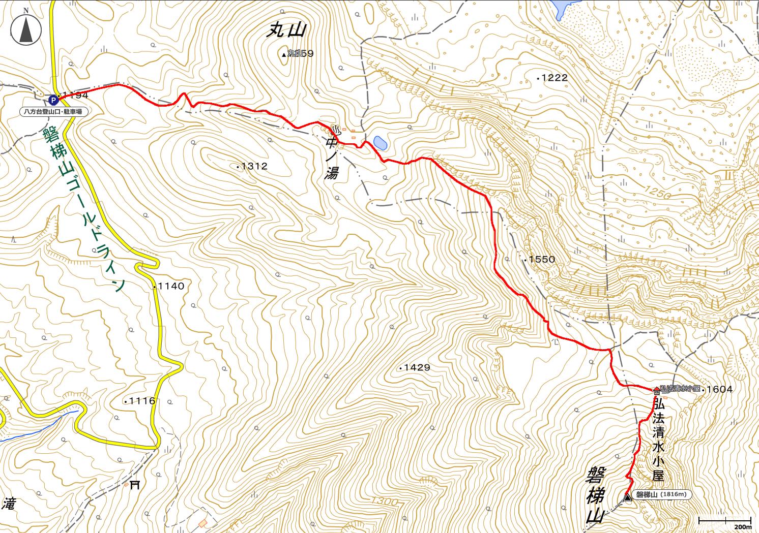 磐梯山地図