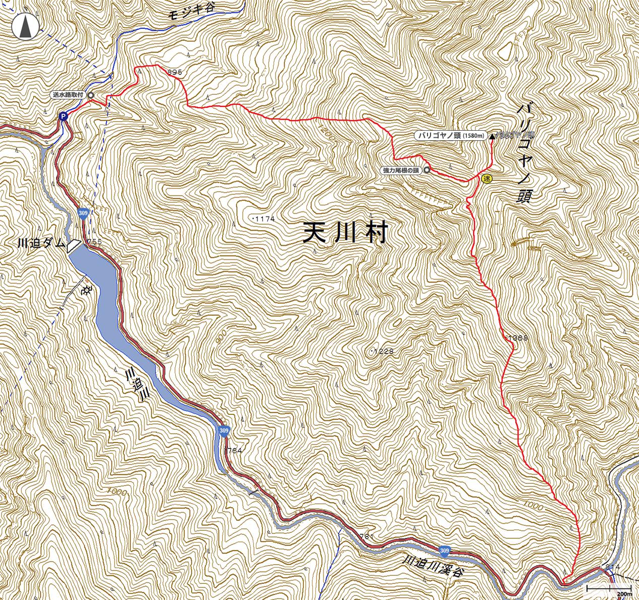 バリゴヤの頭地図