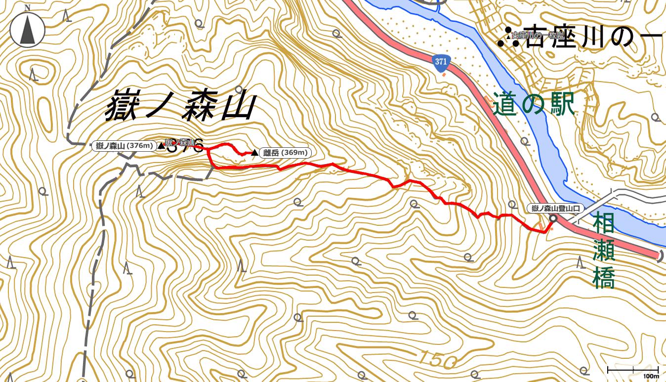 嶽ノ森山地図