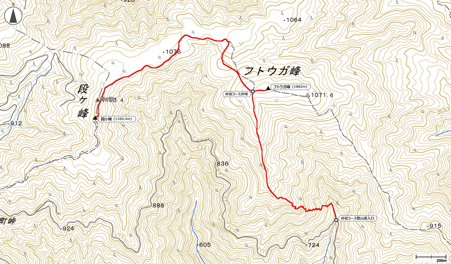 段ヶ峰地図