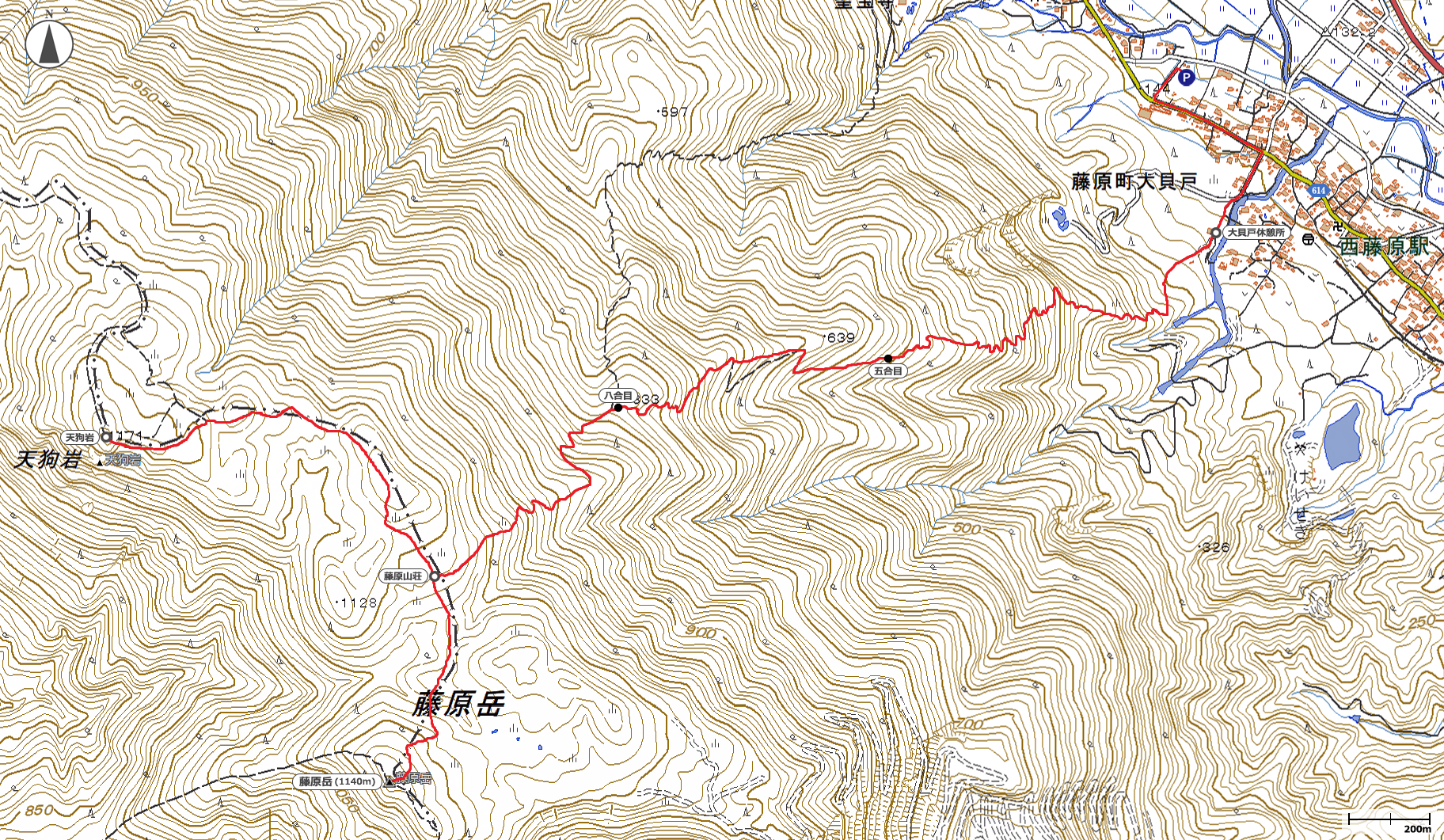 藤原岳地図