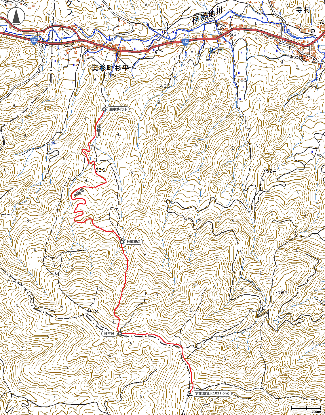 学能堂山地図
