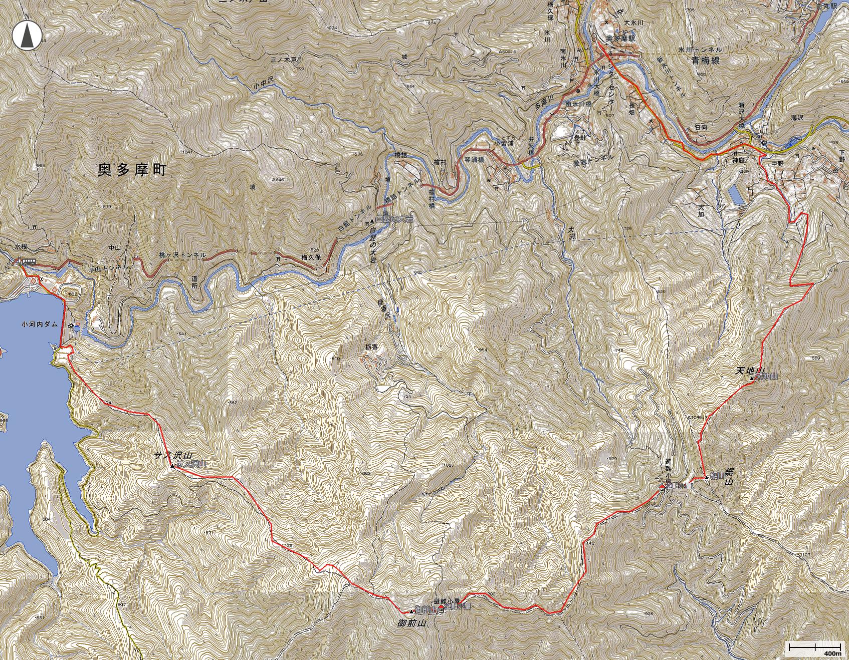 御前山地図