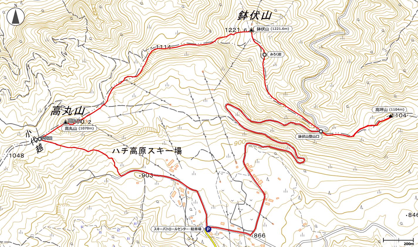 鉢伏山地図