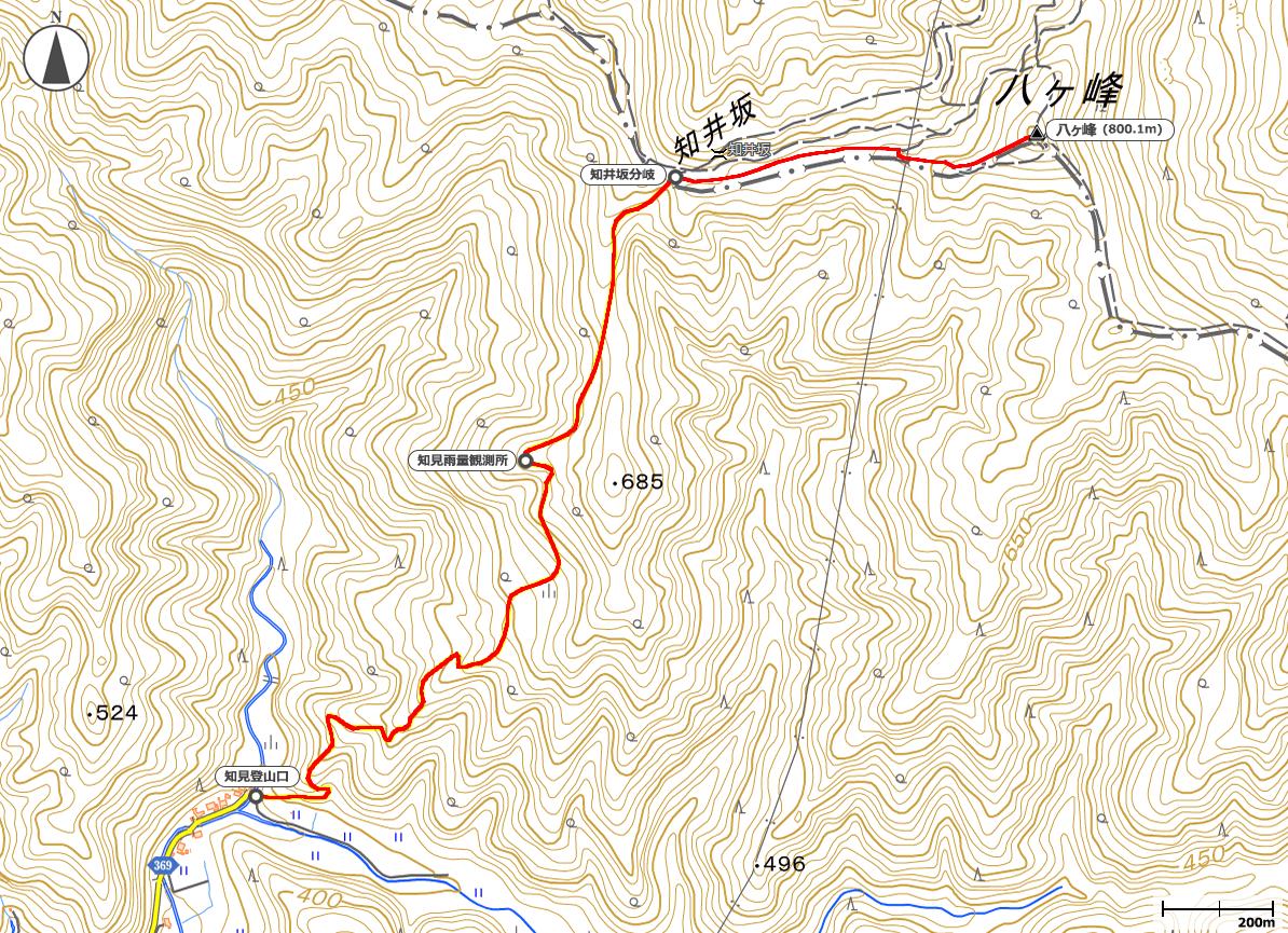 八ヶ峰地図