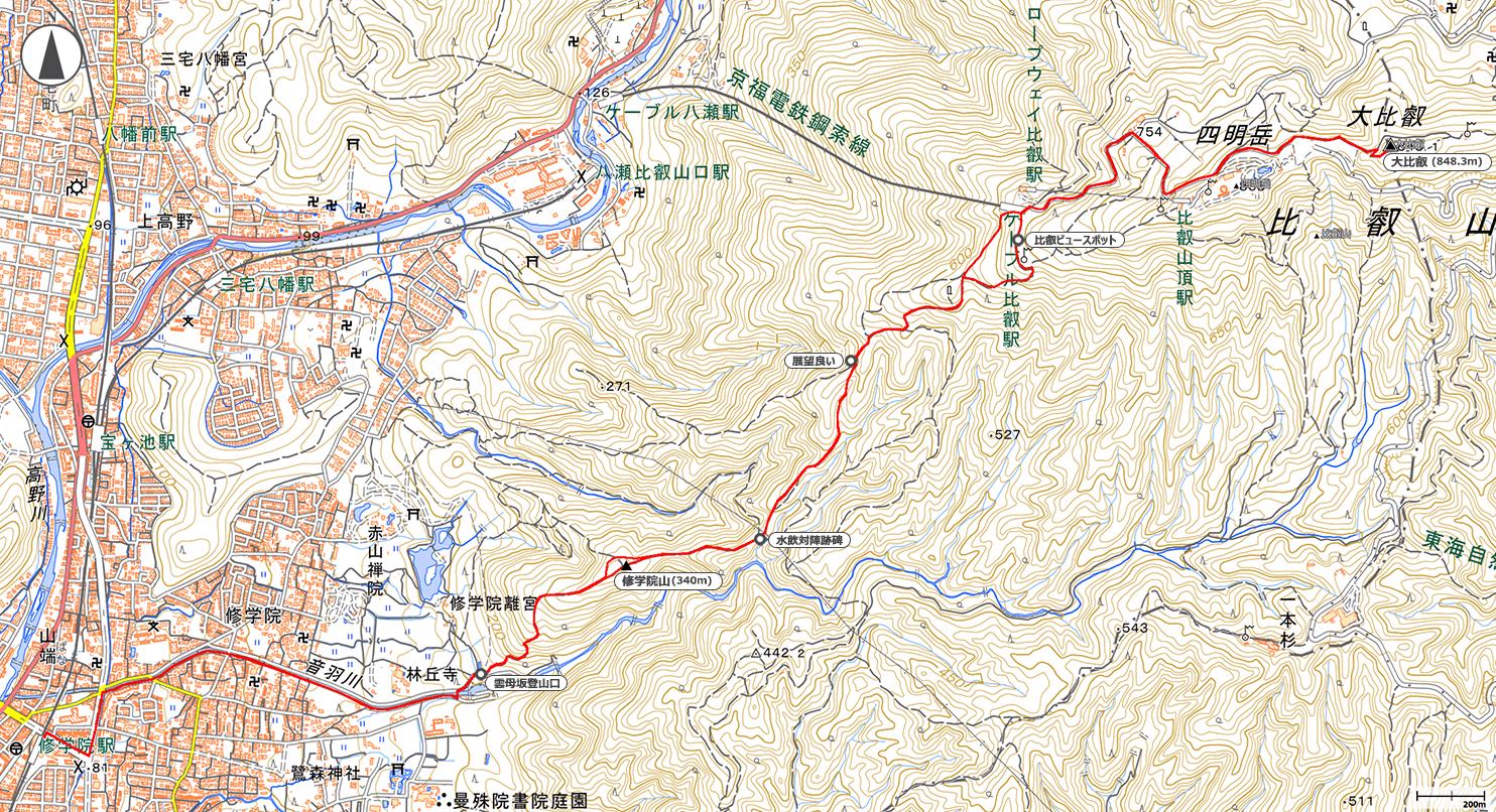 比叡山地図