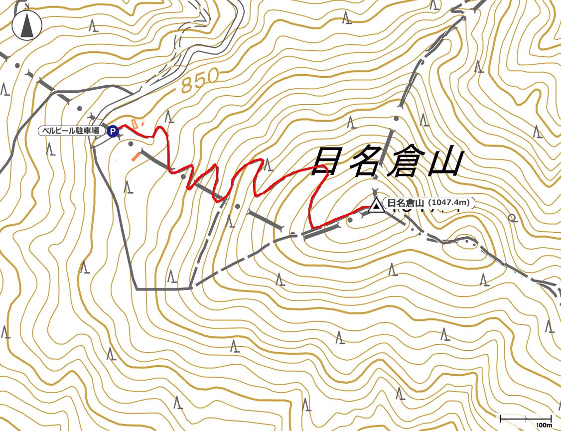 日名倉山地図