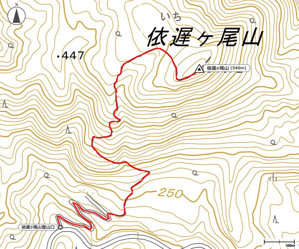 依遅ヶ尾山地図