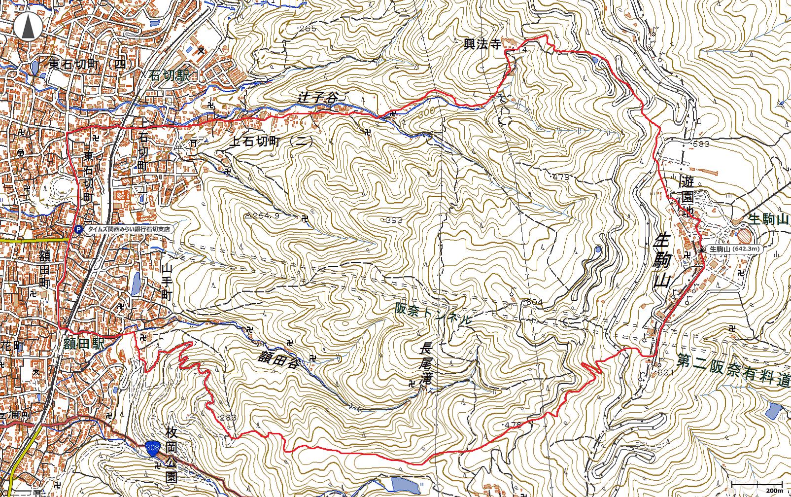 生駒山地図