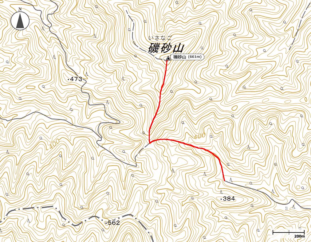 磯砂山地図