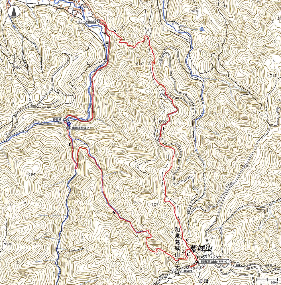 和泉葛城山地図