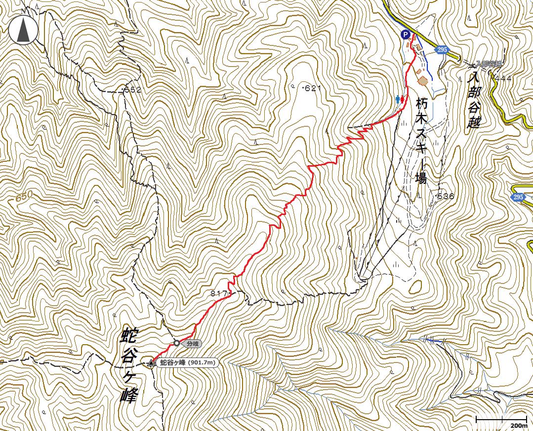 蛇谷ヶ峰地図