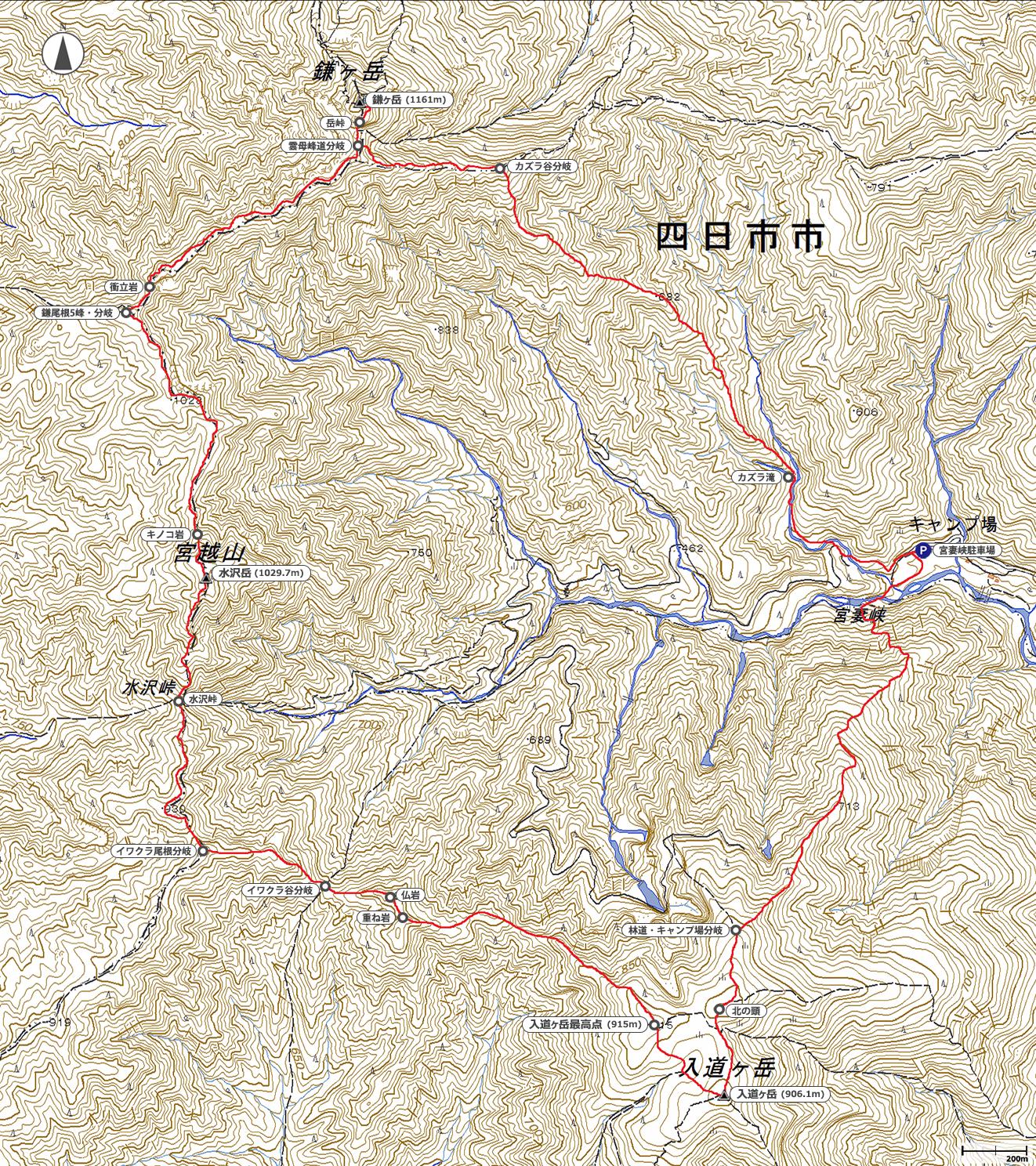 鎌ヶ岳~入道ヶ岳