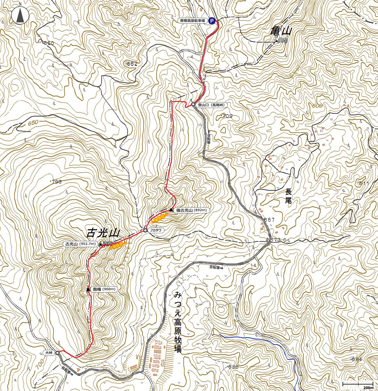 古光山地図