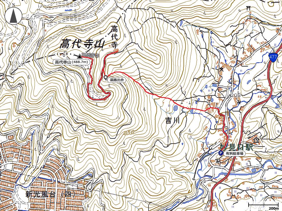 高代寺山地図