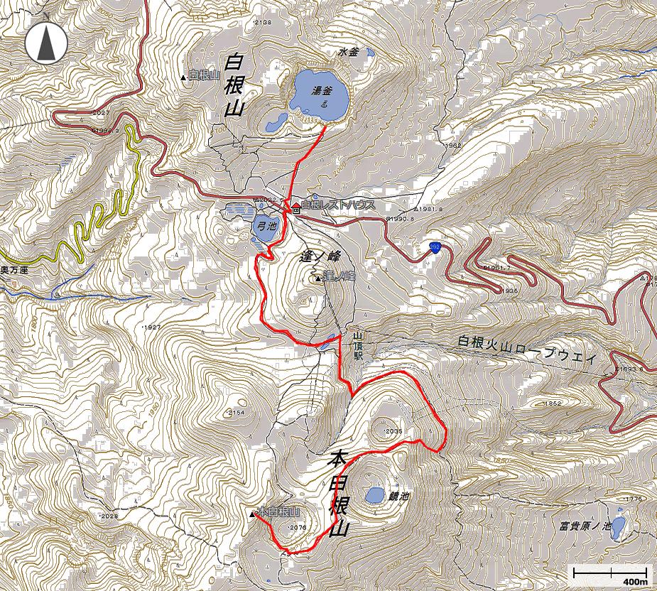 草津白根山地図