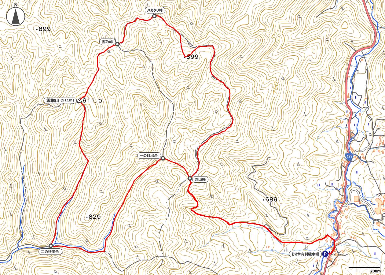 京都・雲取山地図