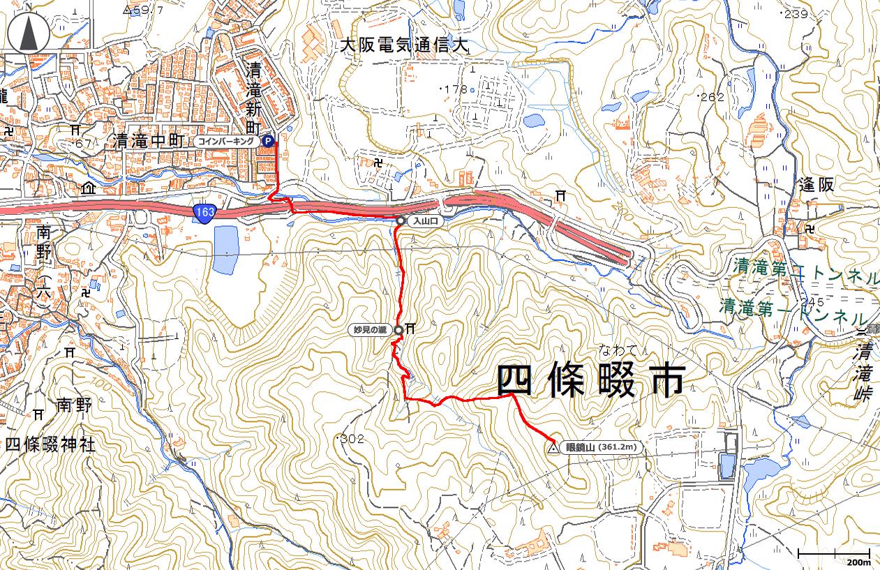眼鏡山地図