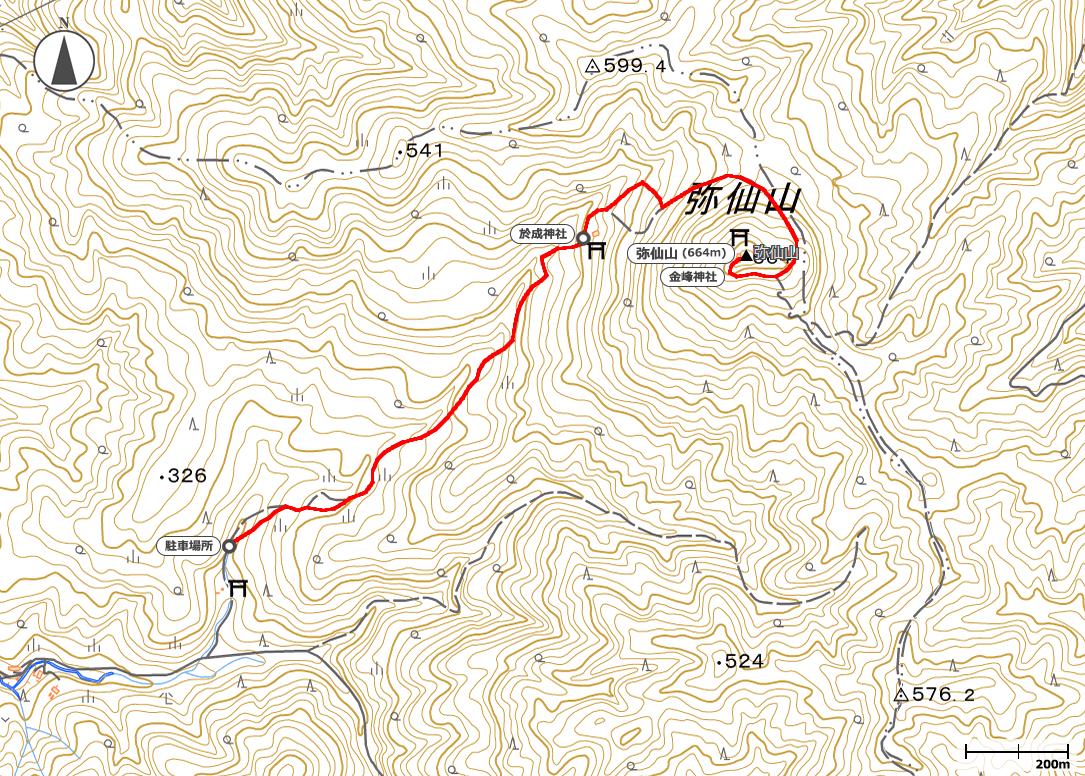 弥仙山地図
