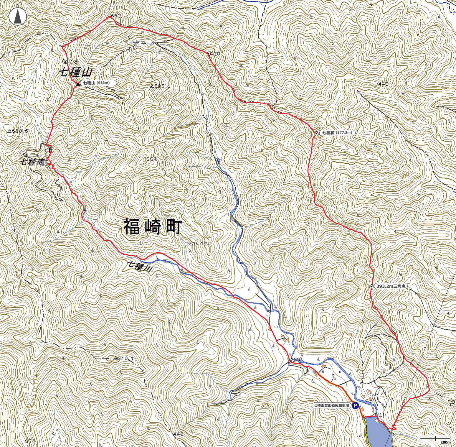 七種山地図
