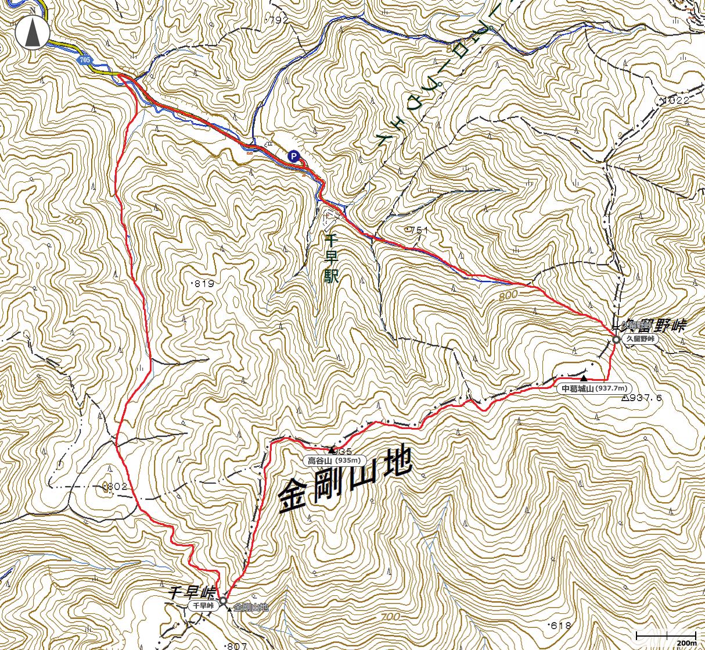 中葛城山地図