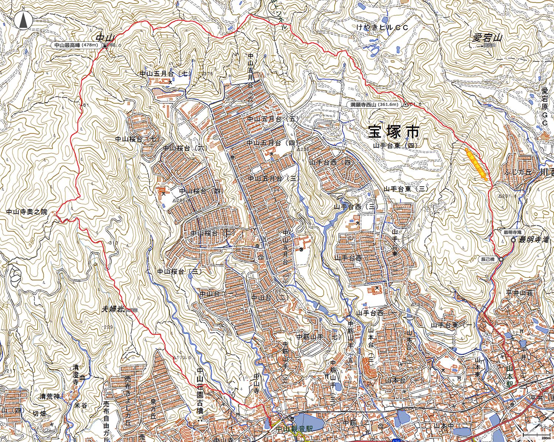 中山連山縦走地図