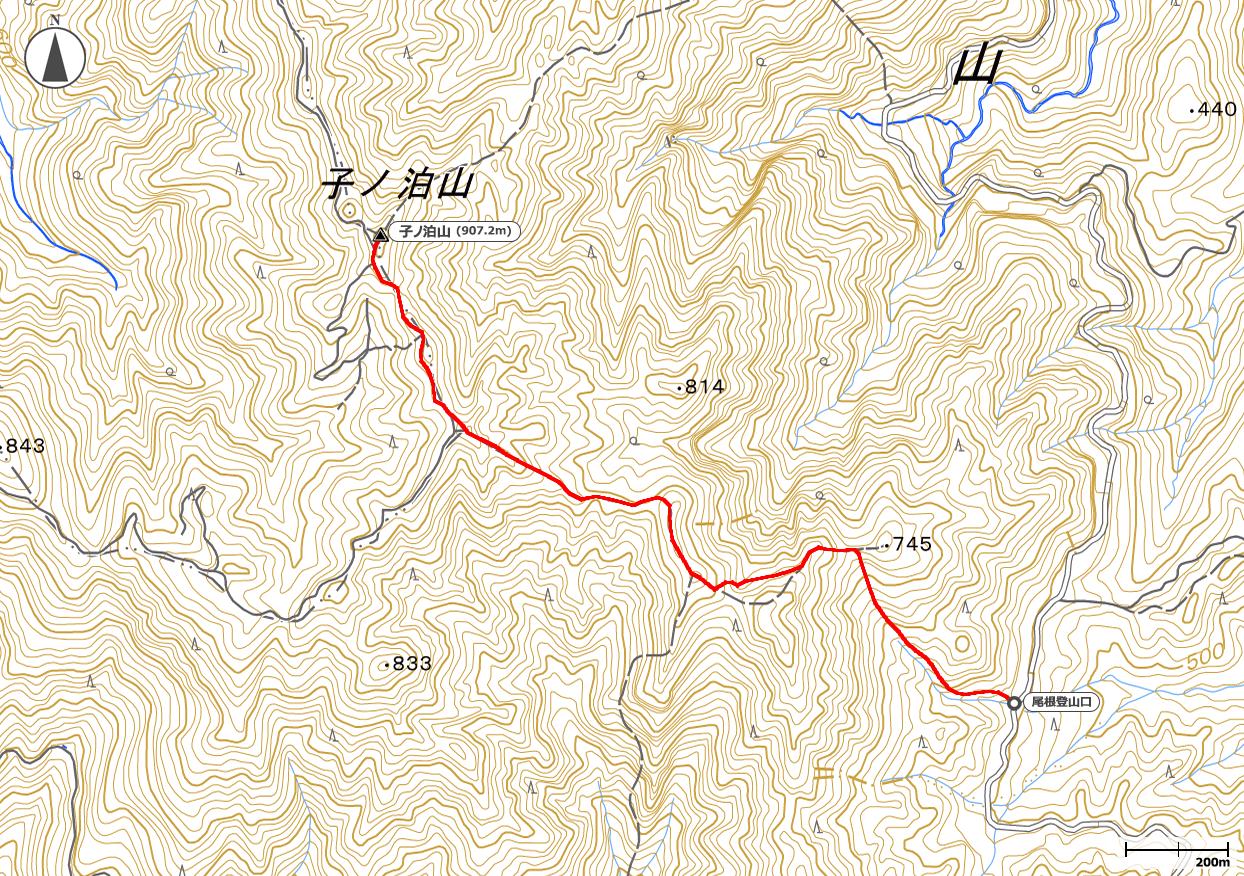 子ノ泊山地図