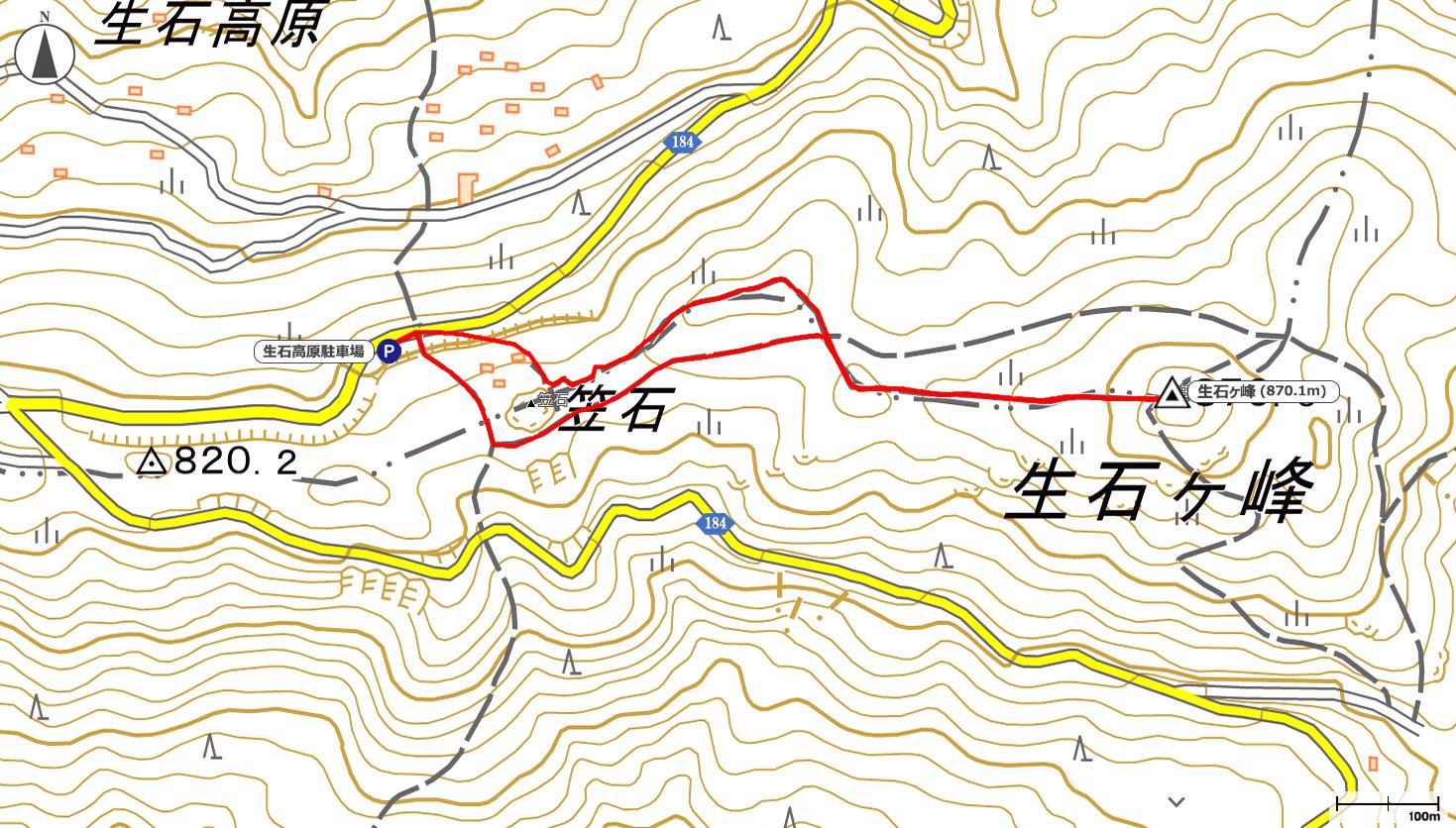 生石ヶ峰地図