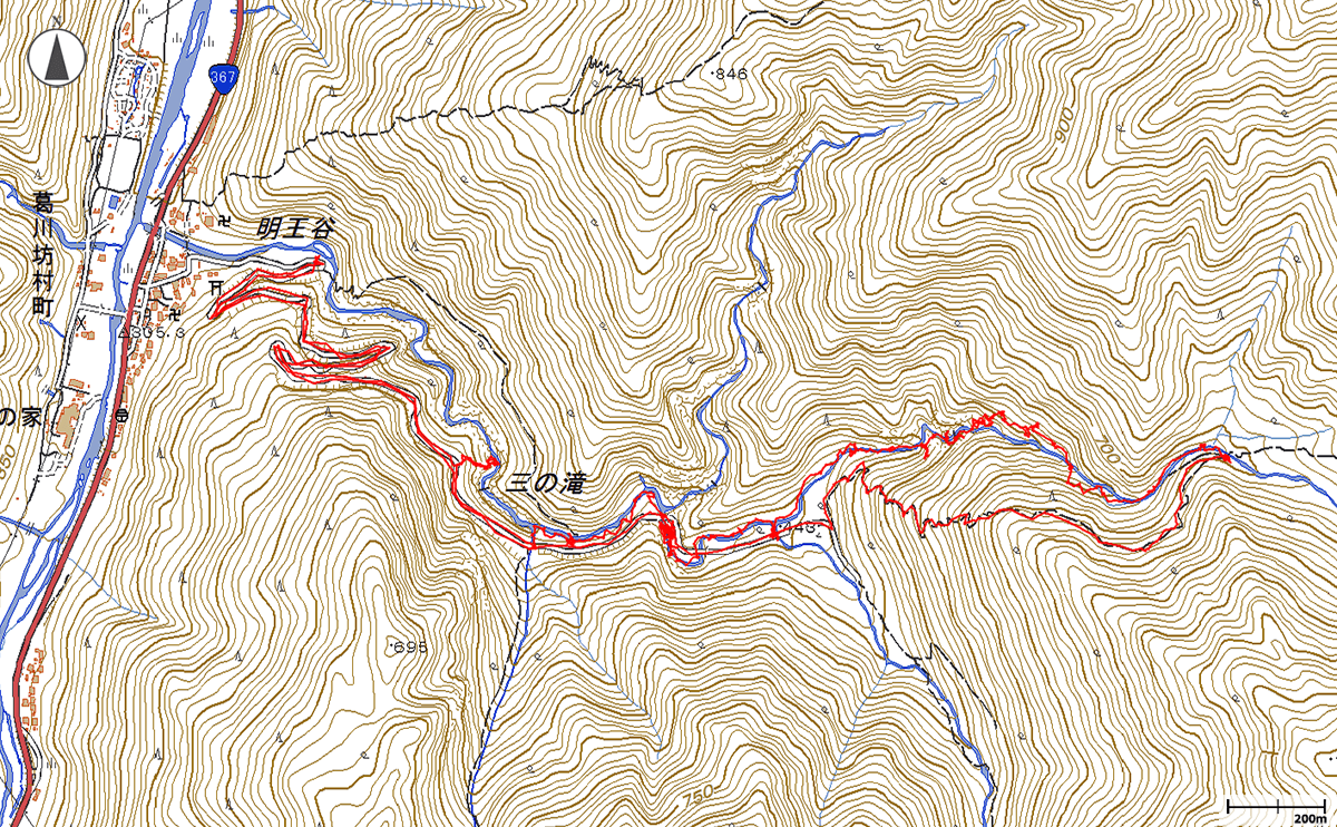 奥ノ深谷地図