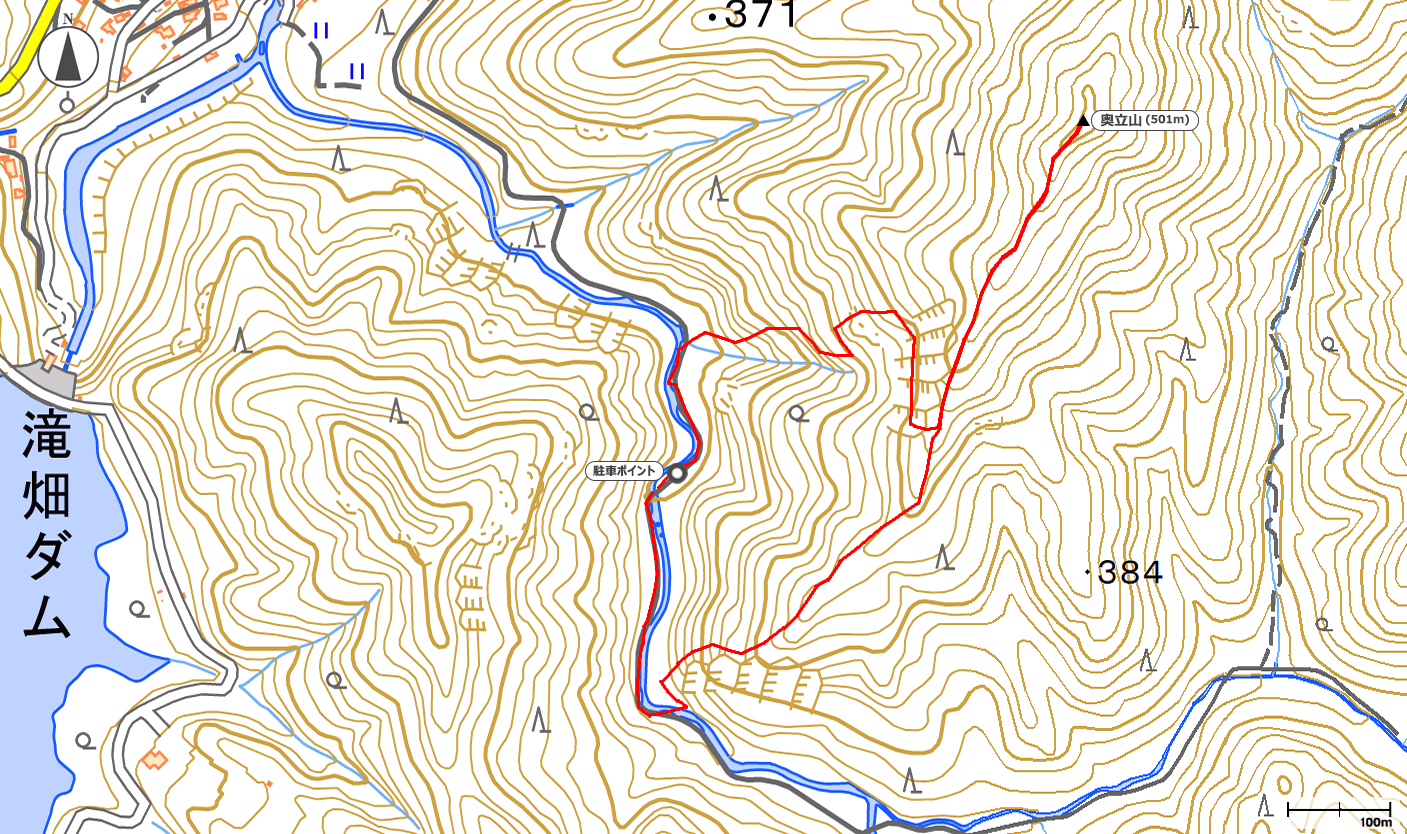 奥立山地図