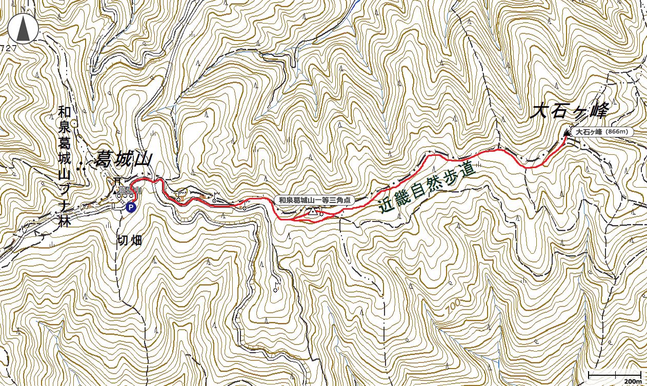 大石ヶ峰地図