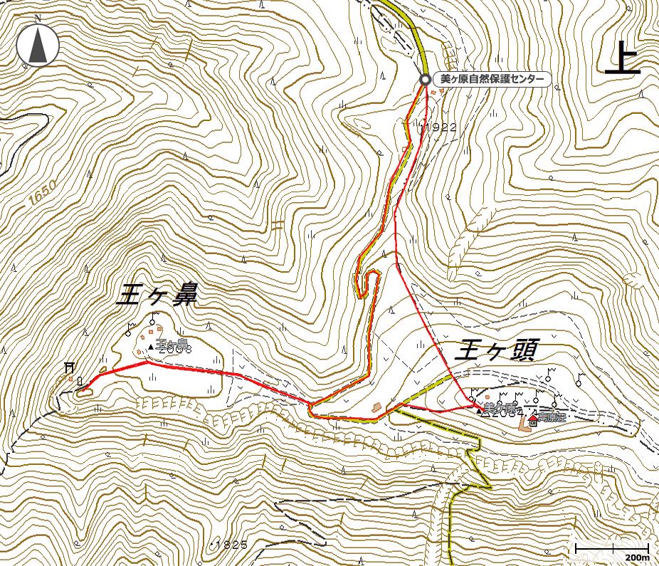 王ヶ頭~王ヶ鼻地図