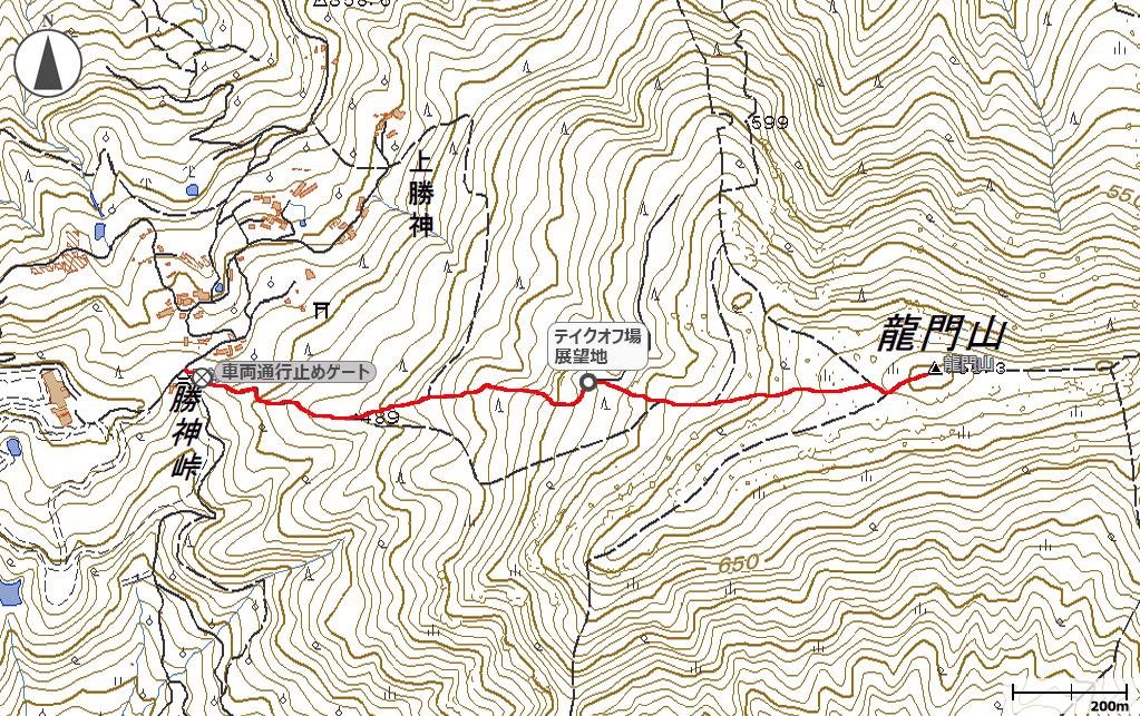 龍門山地図