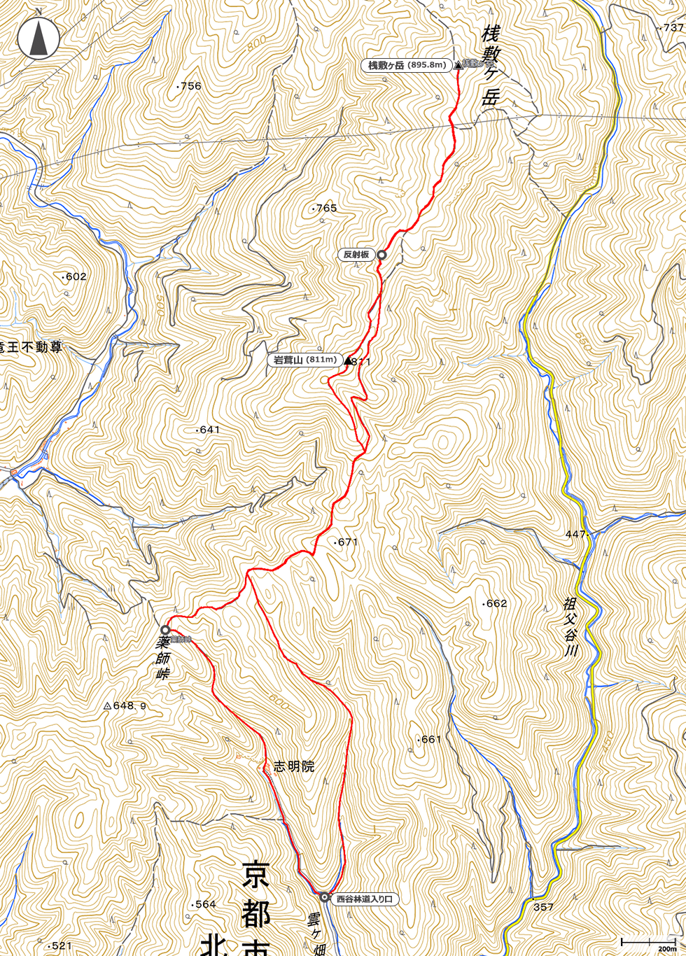 桟敷ヶ岳地図