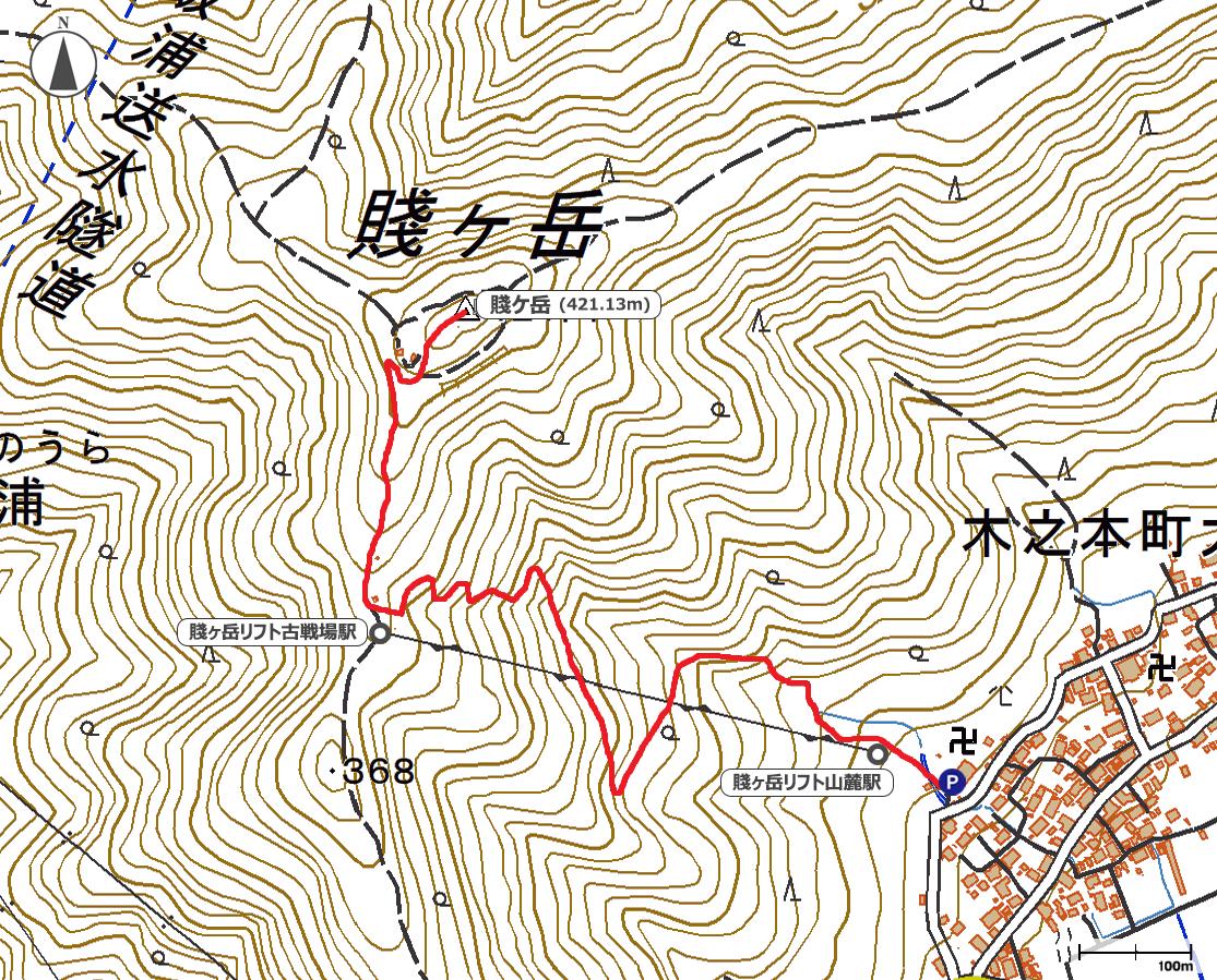 賤ヶ岳地図