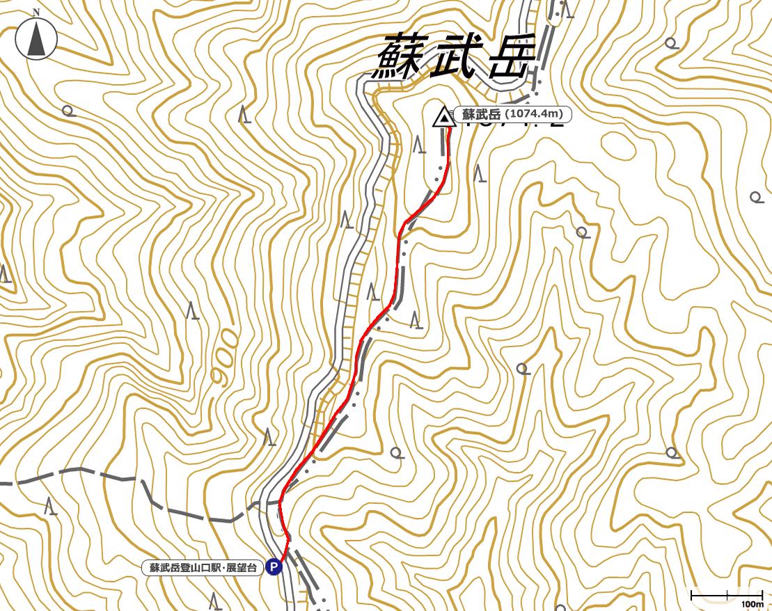 蘇武岳地図