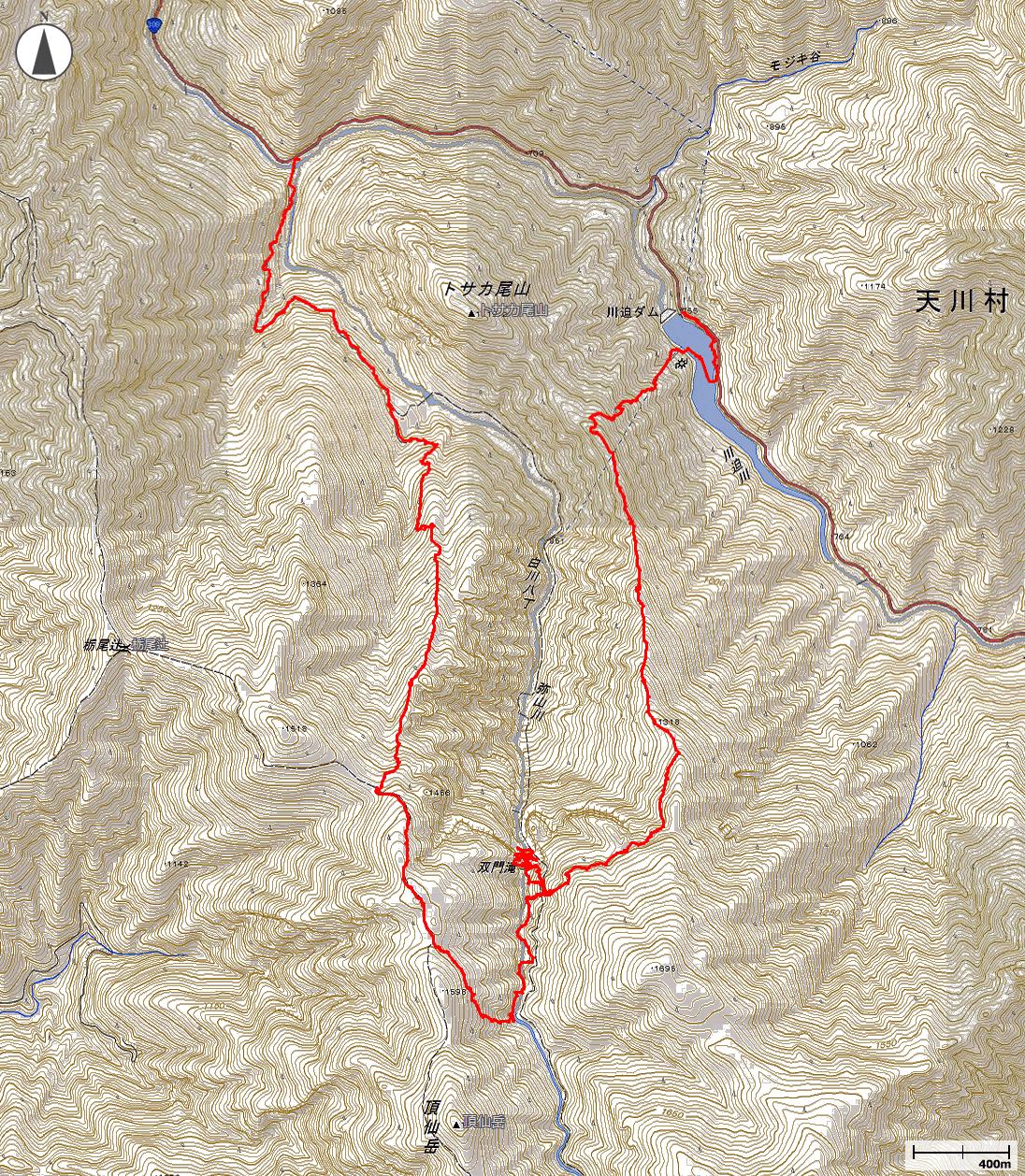 双門の滝壺地図