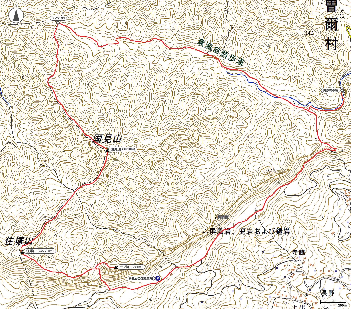 住塚山地図