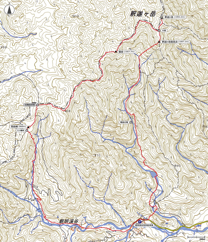 鈴鹿・釈迦ヶ岳地図