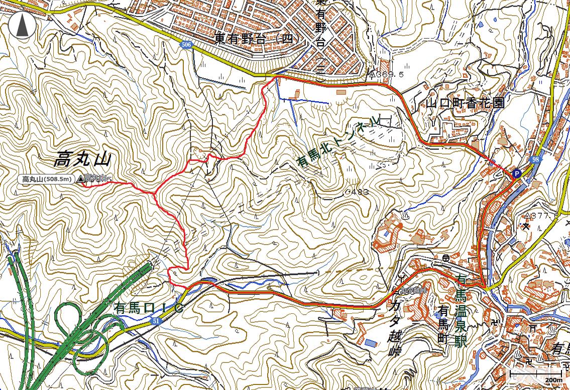 高丸山地図