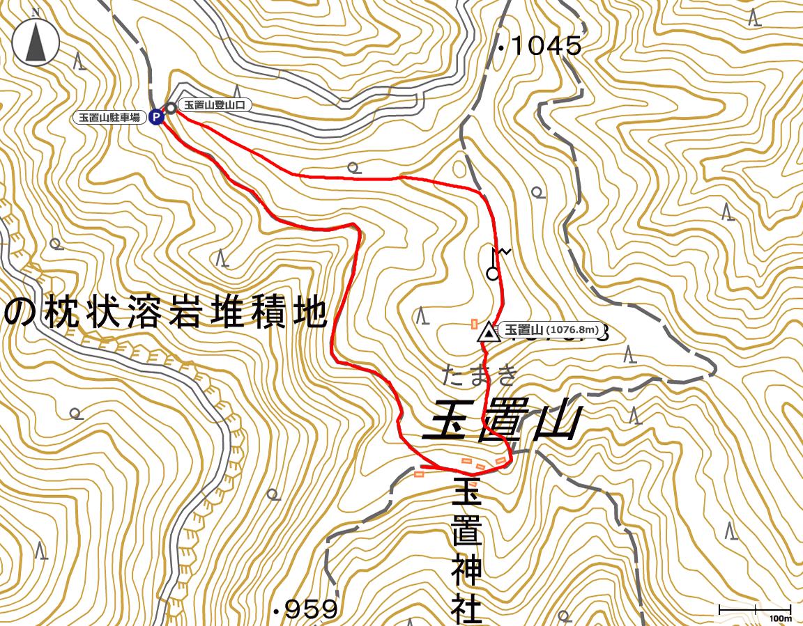 玉置山地図
