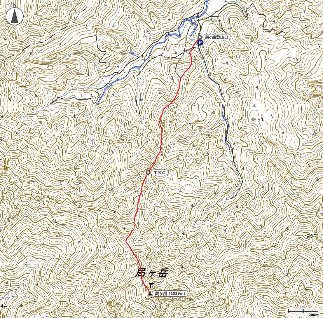局ヶ岳地図