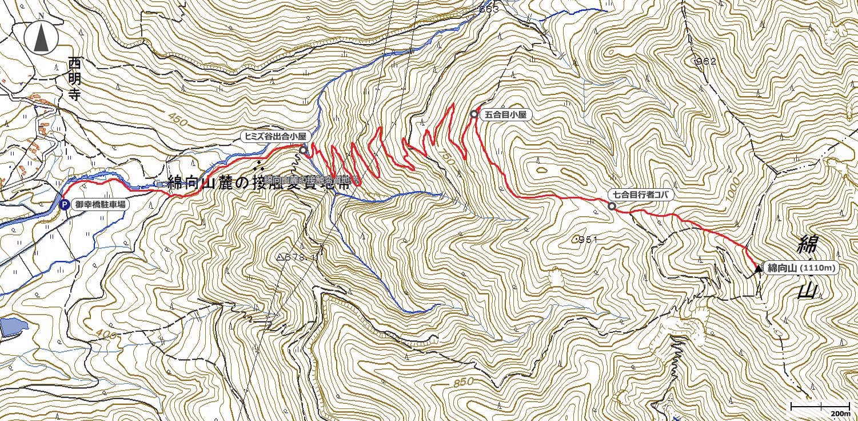 綿向山地図