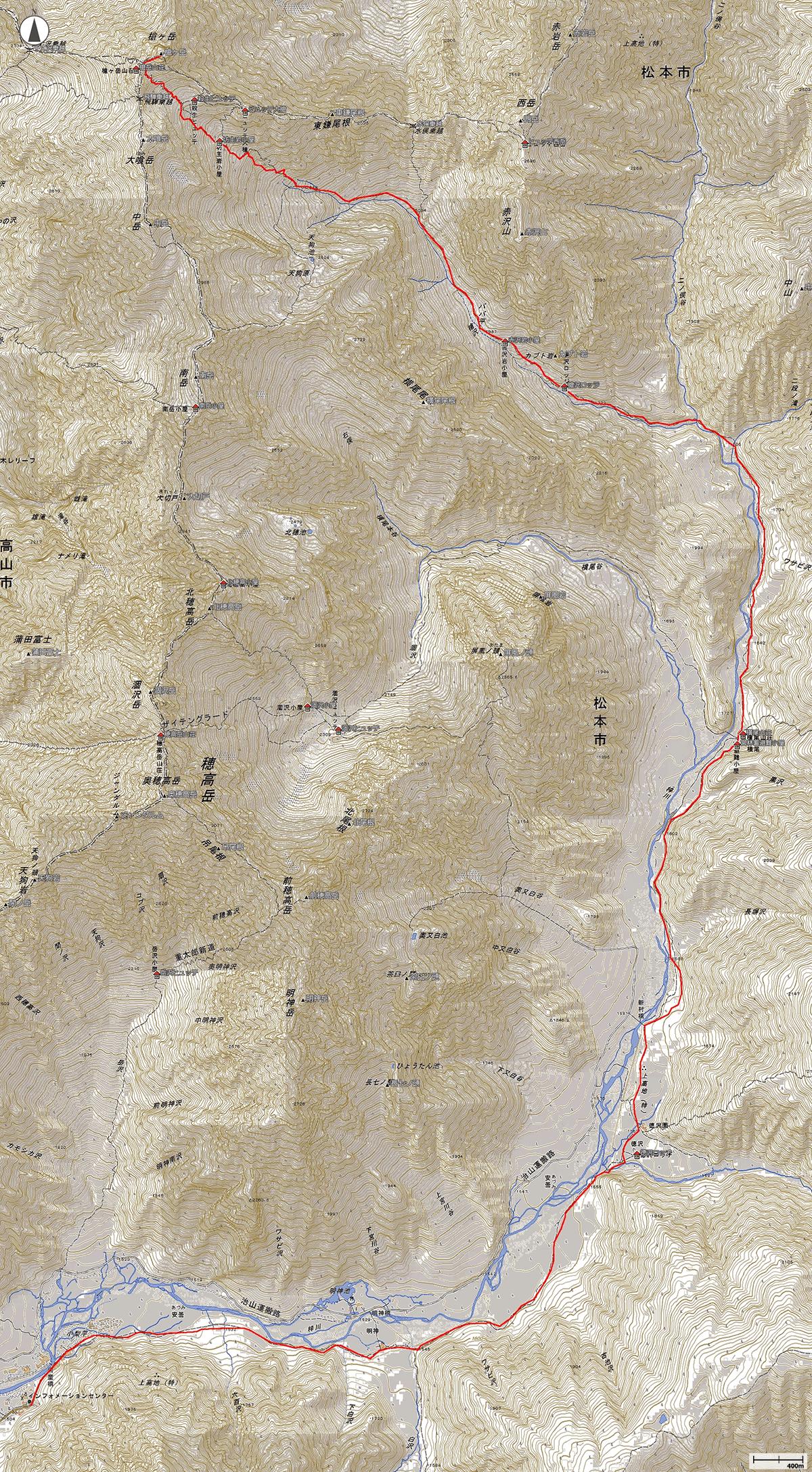 槍ヶ岳地図
