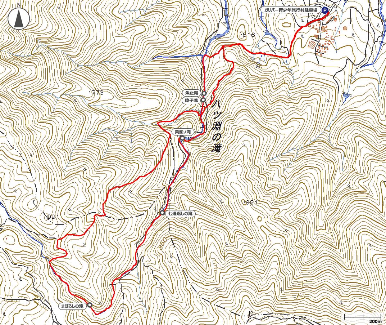 八淵の滝地図