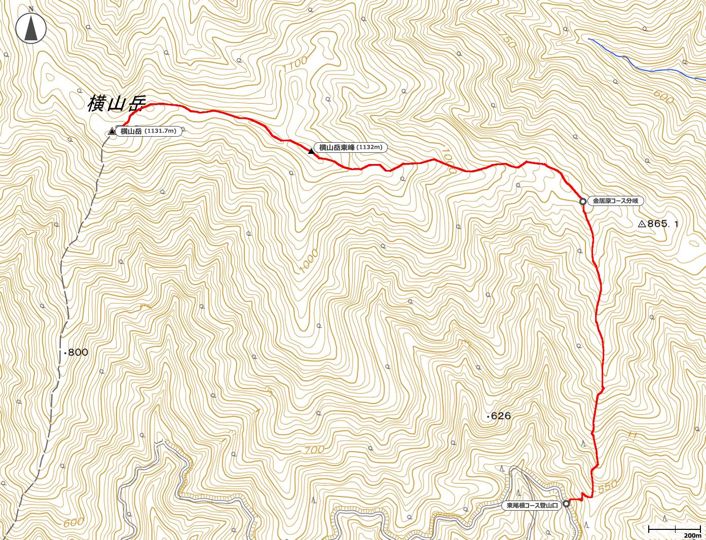 横山岳地図